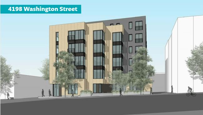 Rendering of 4198 Washington Street Proposed Development