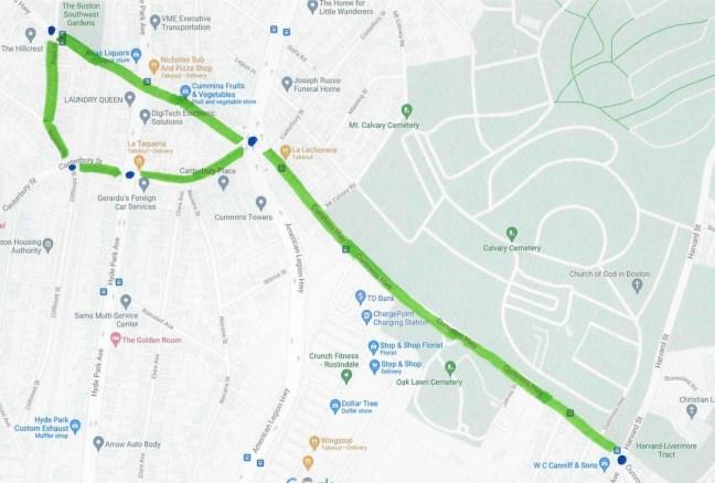 Figure 1 - Walk Assessment Route