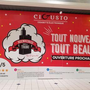 Palissade travaux bois CiGusto Centre CommercialCleunay Ouverture Prochaine