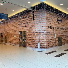 Palissade bibliothèque centre commercial Carmila Géric Thionville