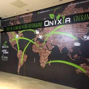 Palissade Chantier Bois Onyxia Centre Commercial O'parinor