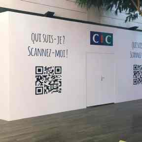 Palissade Chantier CIC Centre Commercial Cora Houdemont