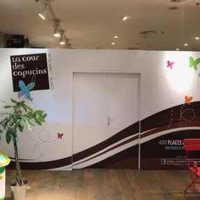 Palissade Chantier Création Visuelle Centre Commercial La Cour des Capucins Thionville