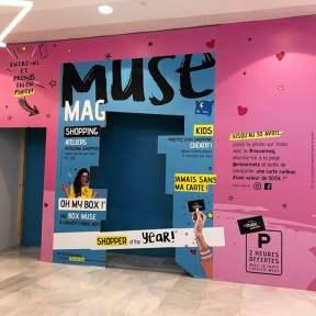 Palissade Créative Travaux Bois Centre Commercial Muse Metz