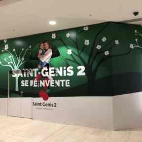 Palissade Travaux Chantier Centre Commercial Saint Genis2 Laval