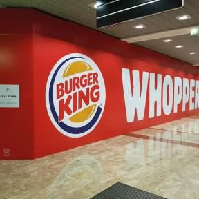 Palissade de chantier aluminium Burger King centre commercial Klepierre Belle Epine