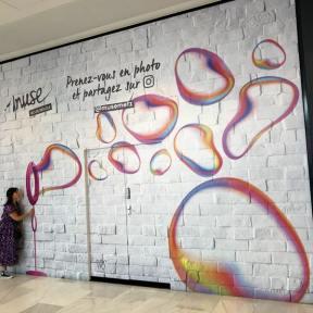 Palissade Chantier Visuel Instagrammable Centre Commercial Muse Metz