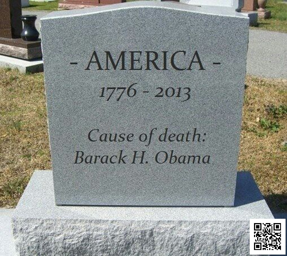 Death Of America Tombstone