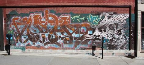 Omen mural on St-Norbert