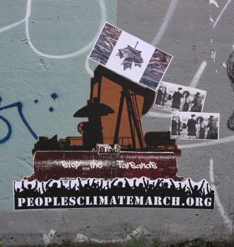 Decolonizing street art, wheatpaste on Clark