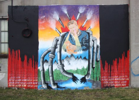 Futur Lasor Now for Decolonizing Street Art near Little Italy