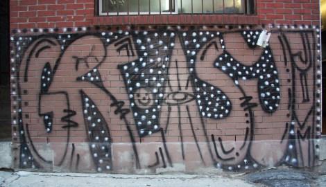 Greasy Jim graffiti mural near St-Laurent corner St-Viateur