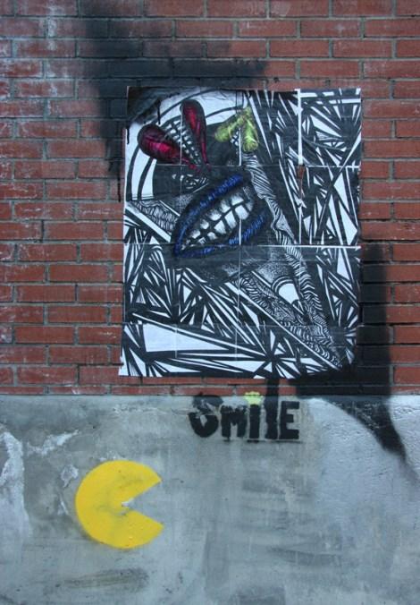 wheatpaste by unknown artist in McGill Ghetto