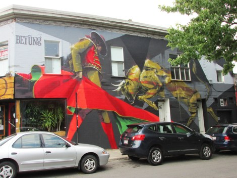 mural by Bryan Beyung for the 2014 edition of Mural Festival