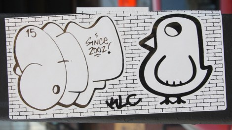 Collaboration sticker with Mr Def (left) and ROC514 (right) both from the KLC crew.