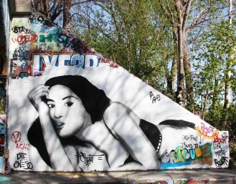 Empty at Rouen legal graffiti tunnel (vandalised)