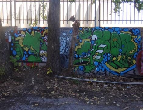 Nixon graffiti in alley behind Sherbrooke, near Berri