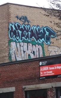 Nixon graffiti on Jean-Talon