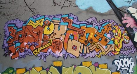 Nixon graffiti on Masson
