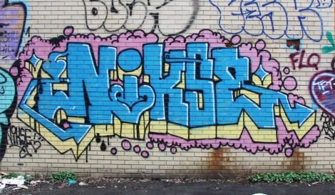 Nixon graffiti on Molson