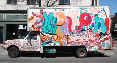 Nixon on truck side