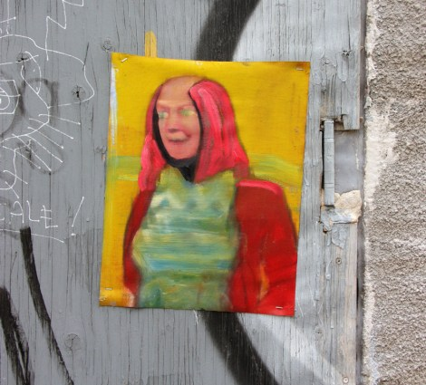 Painting by unknown artist in alley between St-Laurent and Clark