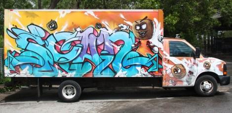 Scaner graffiti on wheels