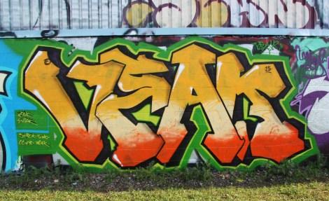 Veak graffiti piece