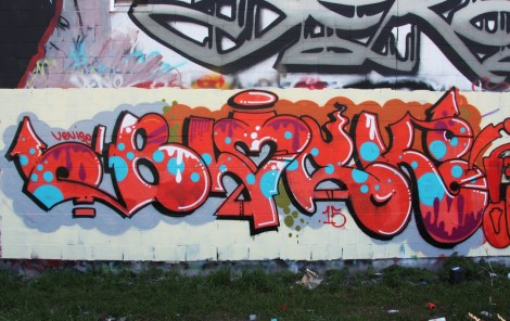 Block graffiti in HoMa
