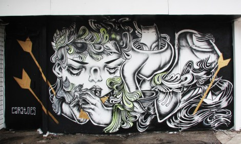 Caratoes's unofficial contribution to the 2015 edition of Mural Festival
