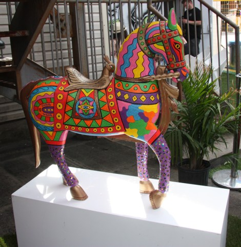 Horse painted by Chris Dyer for the 2015 edition of Mural Festival