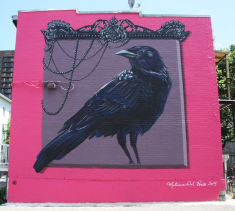 Melissa Del Pinto's contribution to the 2015 edition of Mural Festival