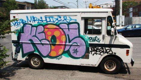 Keon piece on truck