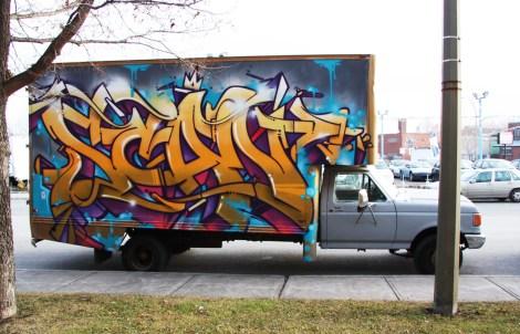 Scaner on truck side
