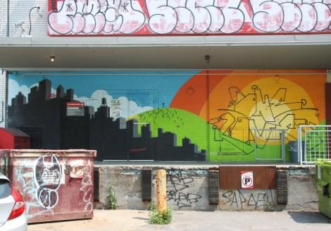 Peru 143 aka Peru Dyer on wall of Plateau drugstore