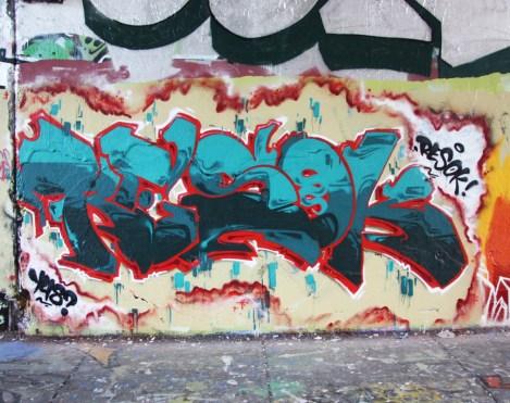 Resok at the Rouen legal graffiti tunnel