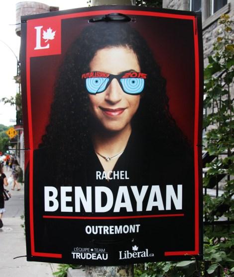 Futur Lasor Now paste-up over electoral billboard