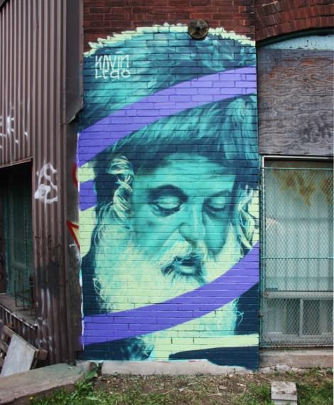 Kevin Ledo mural for VHS - Van Horne Station event