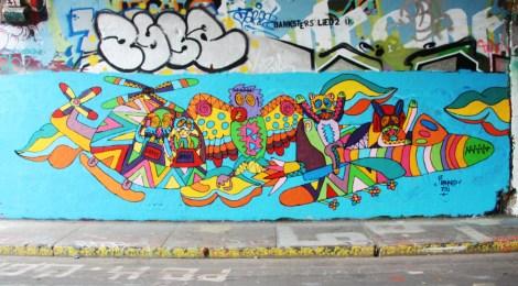 Le Renard Fou at the Rouen tunnel legal graffiti walls