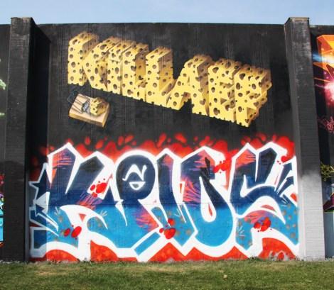Killa EF (top) and KP10 (bottom) at the 2015 Lachine graffiti jam