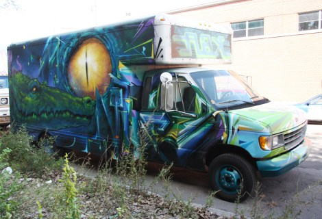 Monk.e and Mastrocola on truck
