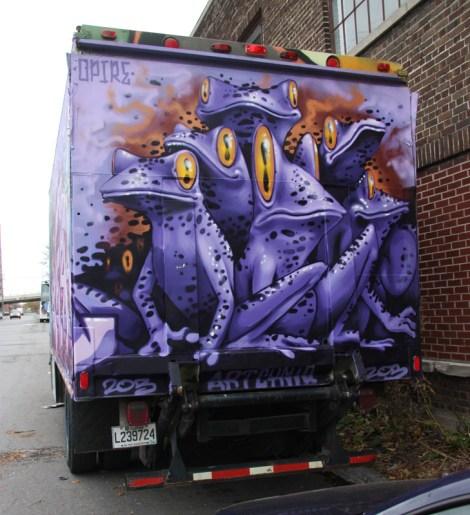 Opire on truck