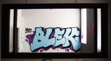 Blek piece in the abandoned Transco