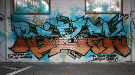 Rizek in the abandoned Transco