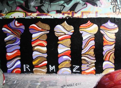 RMZ(?) on the Rouen tunnel legal graffiti wall