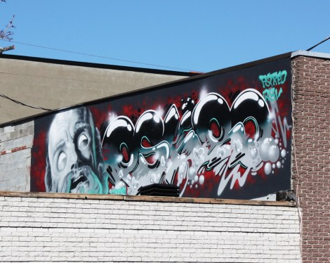 Apok (left) and Eskro (right) on a Little Italy rooftop