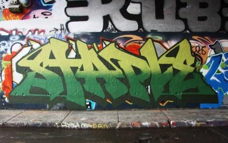 Staple at the Rouen legal graffiti wall
