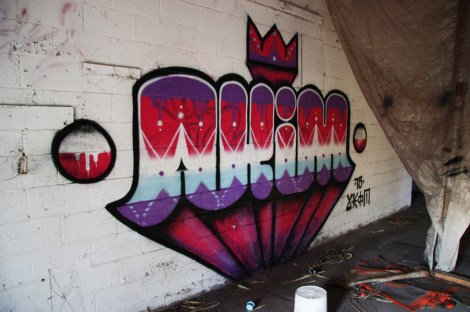 Akim piece in an abandoned building