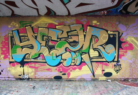 Yesir at the PSC legal graffiti wall