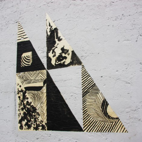 wheatpaste by MSHL and SBU One in Mile End